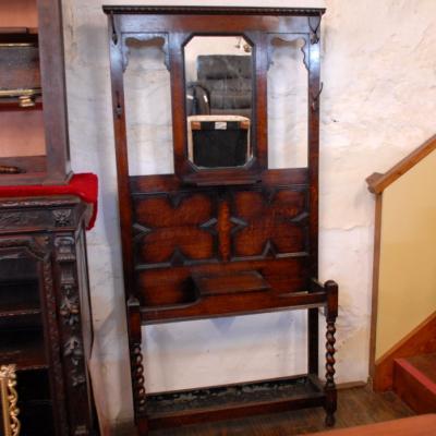 Vintage Oak Hall Stand