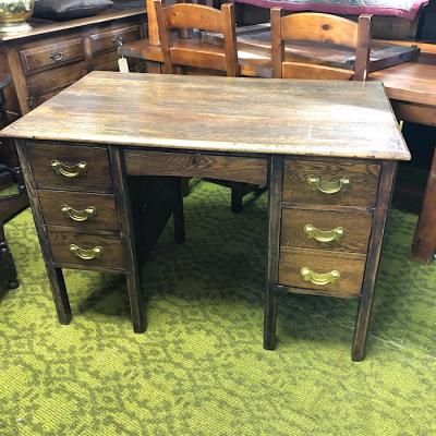 Vintage Oak Knee Hole Desk