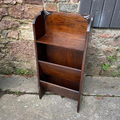Vintage Oak Newspaper Stand