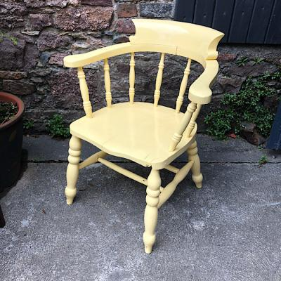 Vintage painted captains chair