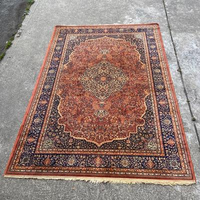 Vintage Burnt Orange Oriental Style Rug