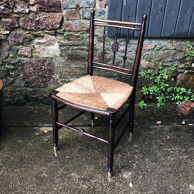 Vintage Rush Seat Kitchen Chair