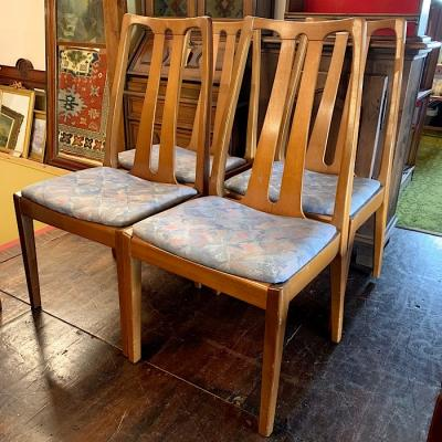 Vintage Set of Four Nathan Teak Chairs