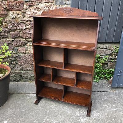 Vintage Small Oak Book Shelf