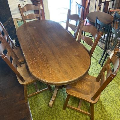 Vintage Solid Oak Dining Set
