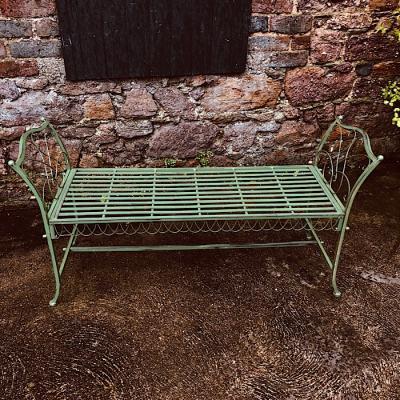Vintage Style Metal Garden Bench