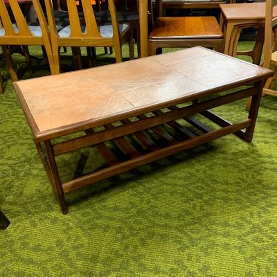 Vintage Teak & Tiled Top Coffee Table