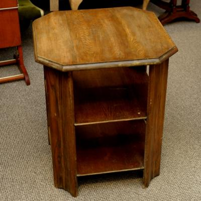 Vintage Three Tier Oak Side Table