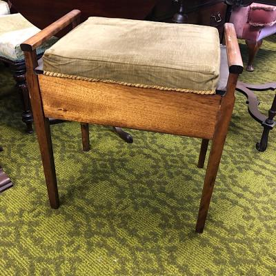 Vintage Upholstered Piano Stool