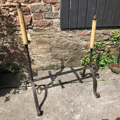 Vintage Wrought Steel Double Lamp