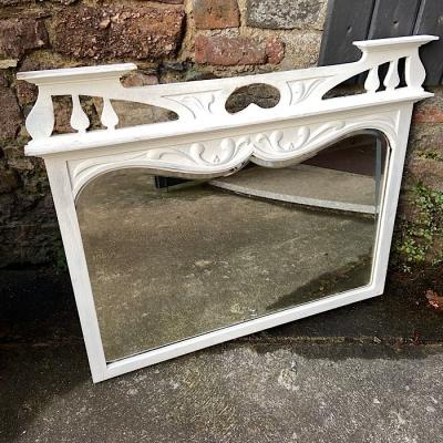 White Painted Arts And Crafts Mirror