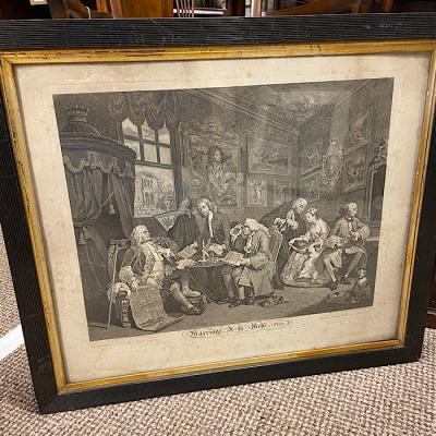 William Hogarth Engraving - Marriage A-La-Mode