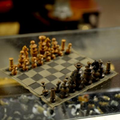 World War Two German Travel Chess Set